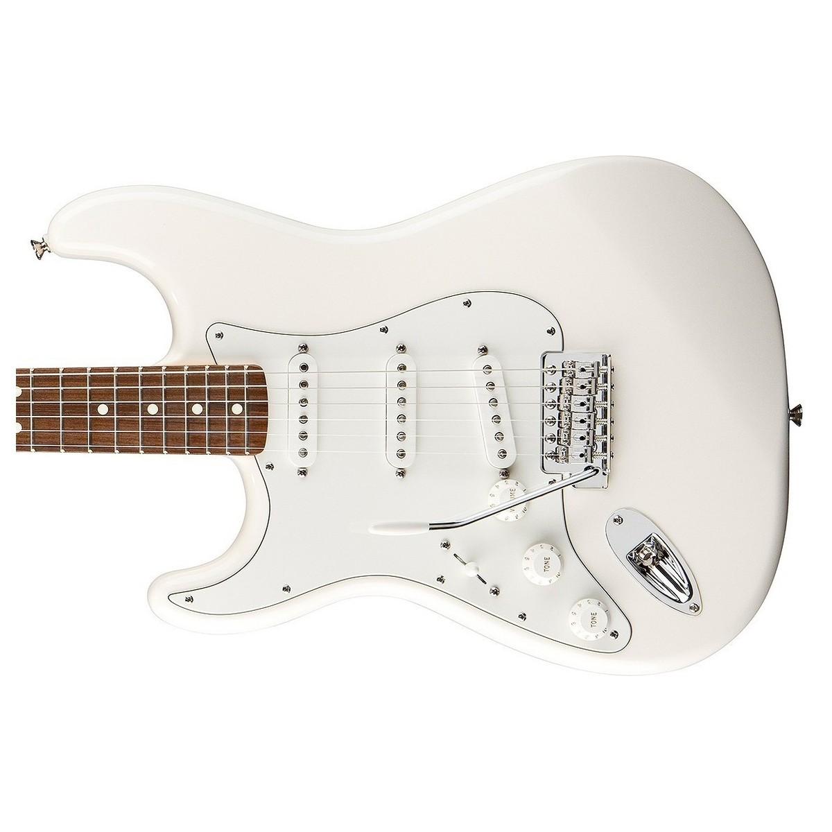 fender standard stratocaster left handed guitar arctic white at gear4music. Black Bedroom Furniture Sets. Home Design Ideas
