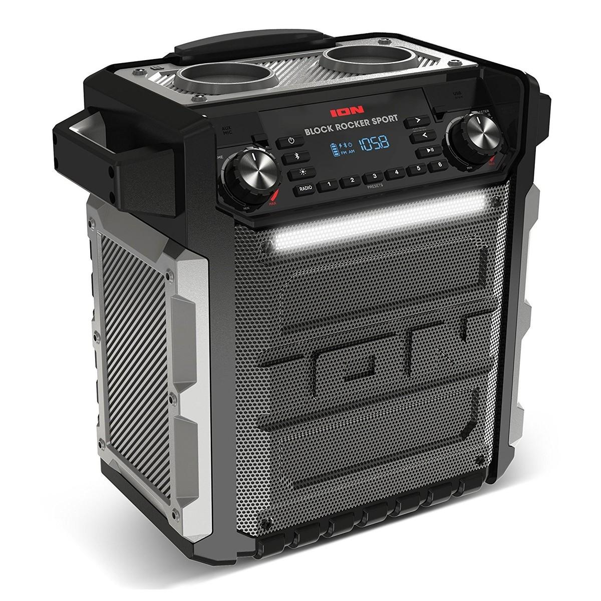 ION Block Rocker Sport Wireless Speaker with Bluetooth - Angled. Loading  zoom 3bd7f55ac460e