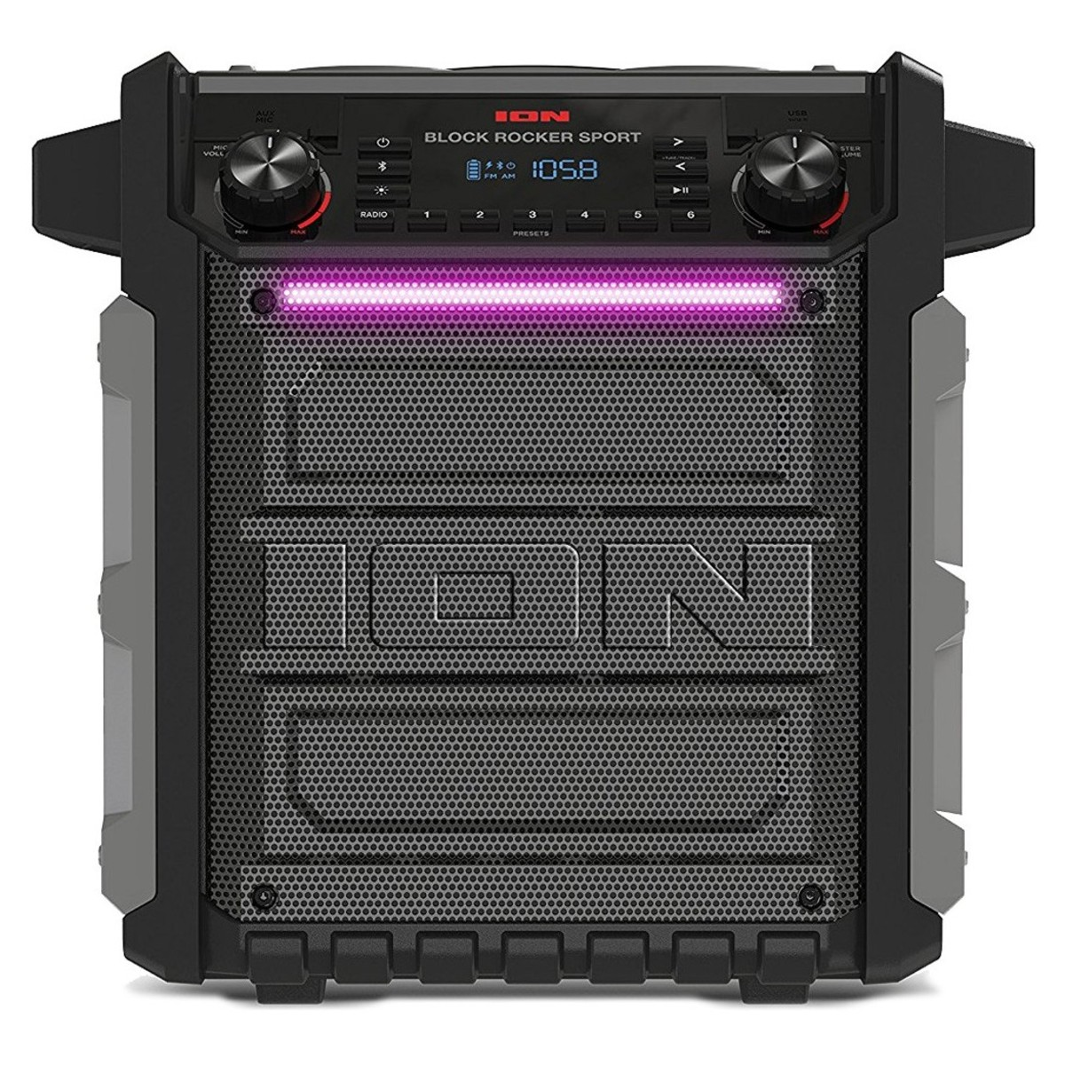 ION Block Rocker Sport Bluetooth Speaker - Front. Loading zoom 6901ae14f2edd