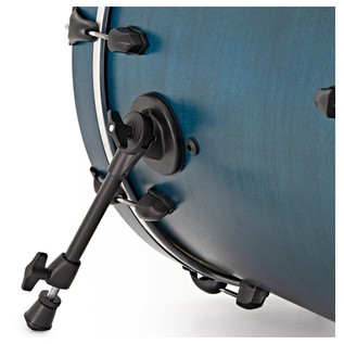 SJC Drums Tour 22'' 3 Piece Shell Pack, Blue with Black HW