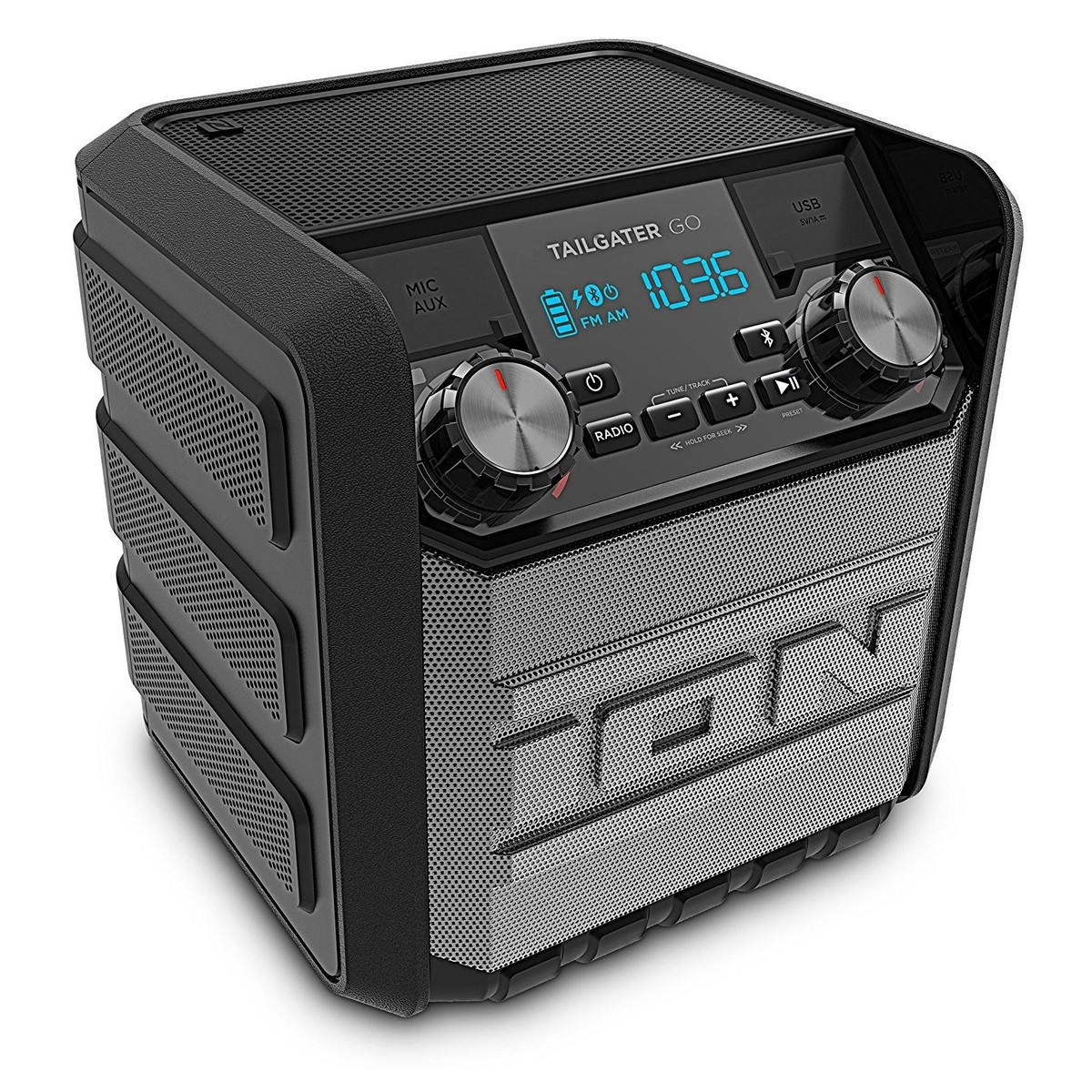 ION Tailgater Go Bluetooth-högtalare. ION Tailgater Go Portable Speaker -  Angled. Loading zoom f0c3a2678dafb