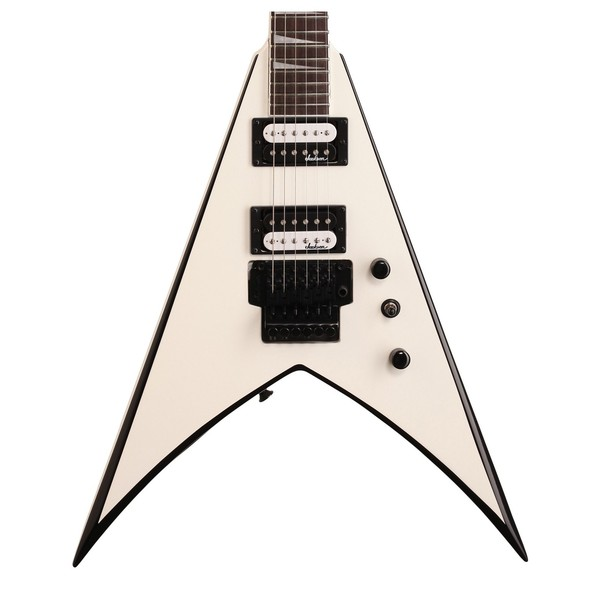Jackson King V JS32, White w/Black Bevels