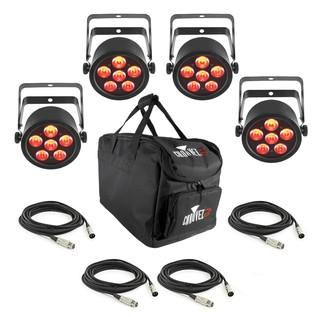 Chauvet SlimPAR T6 USB, 4 Pack with Bag and Cables