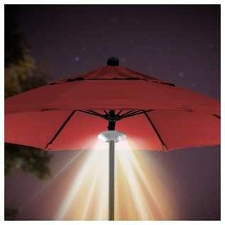 ION Patio Mate Waterproof Parasol Light with Bluetooth Speakers - Lifestyle