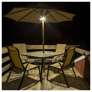 ION Patio Mate Waterproof Parasol Light with Bluetooth Speakers - Patio