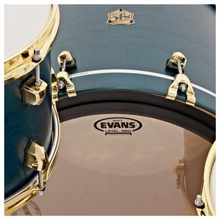 SJC Drums Tour 22'' 3 Piece Shell Pack, Blue with Brass HW