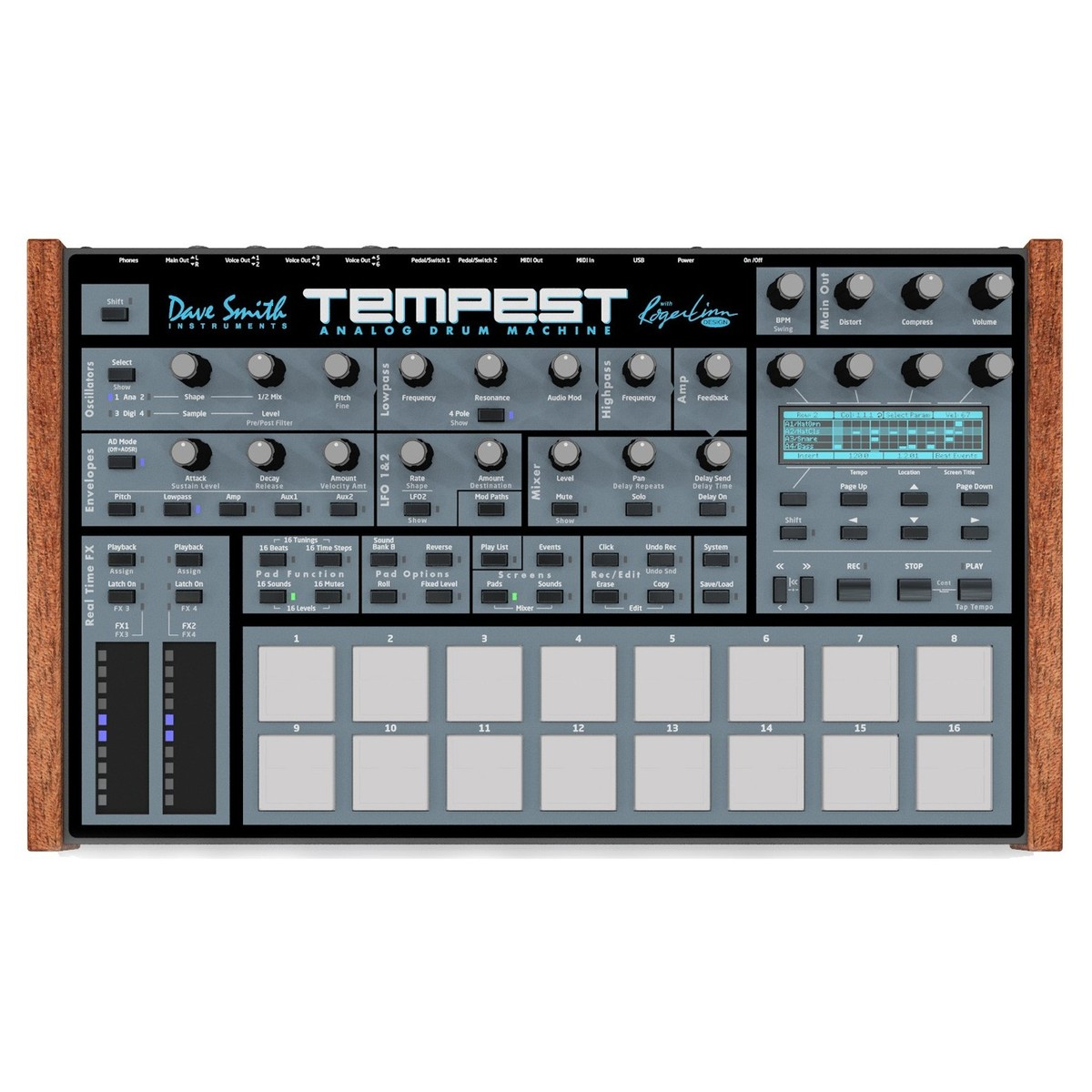 Dave Smith Instruments Tempest Analog Drum Machine At Gear4music The Wireless Remote Control Equipment Has Two Modes Latched Top Loading Zoom