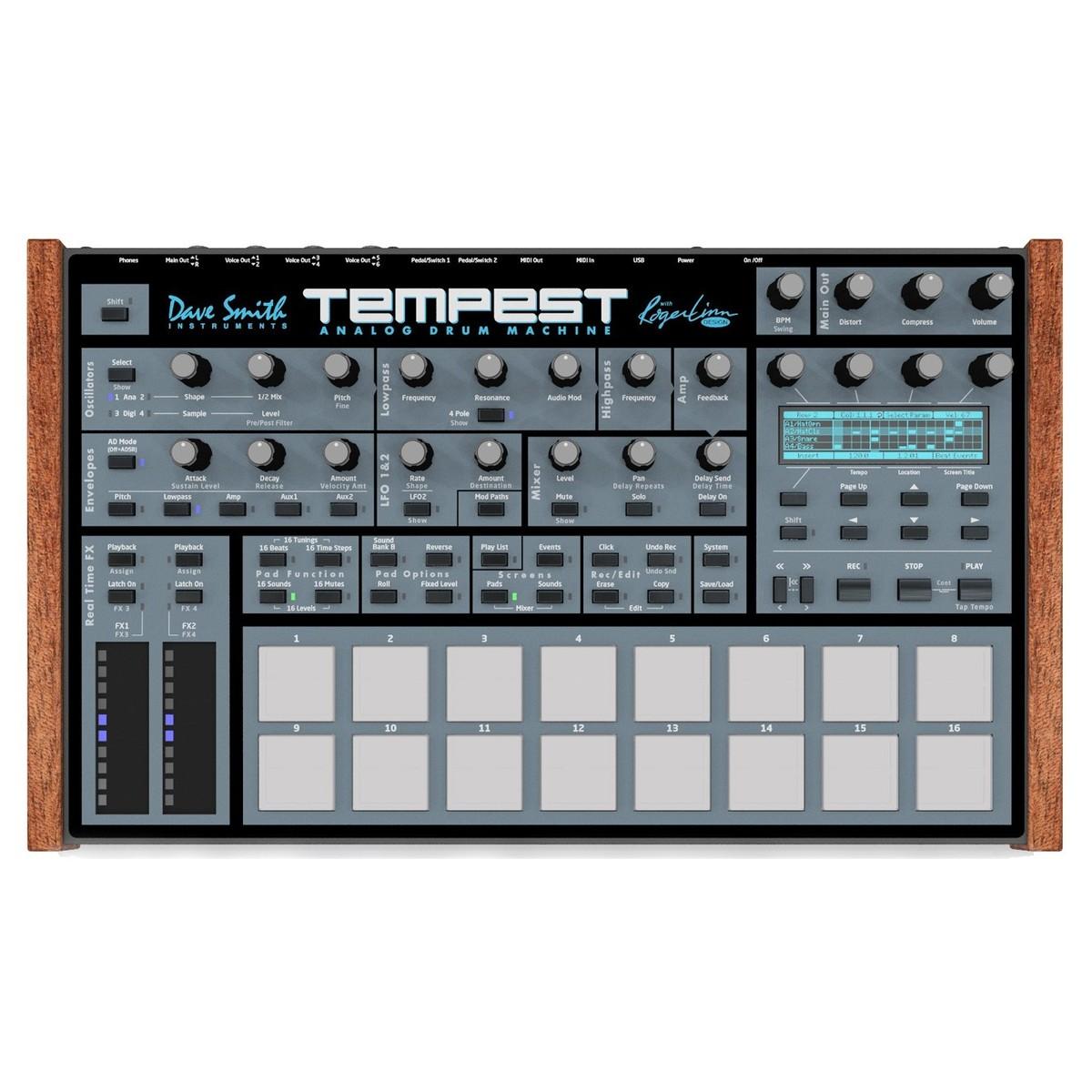 dave smith instruments tempest analog drum machine at gear4music. Black Bedroom Furniture Sets. Home Design Ideas