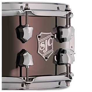 SJC Drums 14'' x 6.5'' Dudley Snare Drum, Black Nickel Over Steel