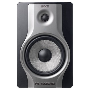 M-Audio BX8 Carbon Active Studio Monitor (Pair) With Stands - Front