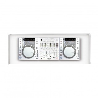 Glorious Cockpit Deluxe DJ Booth, White 3