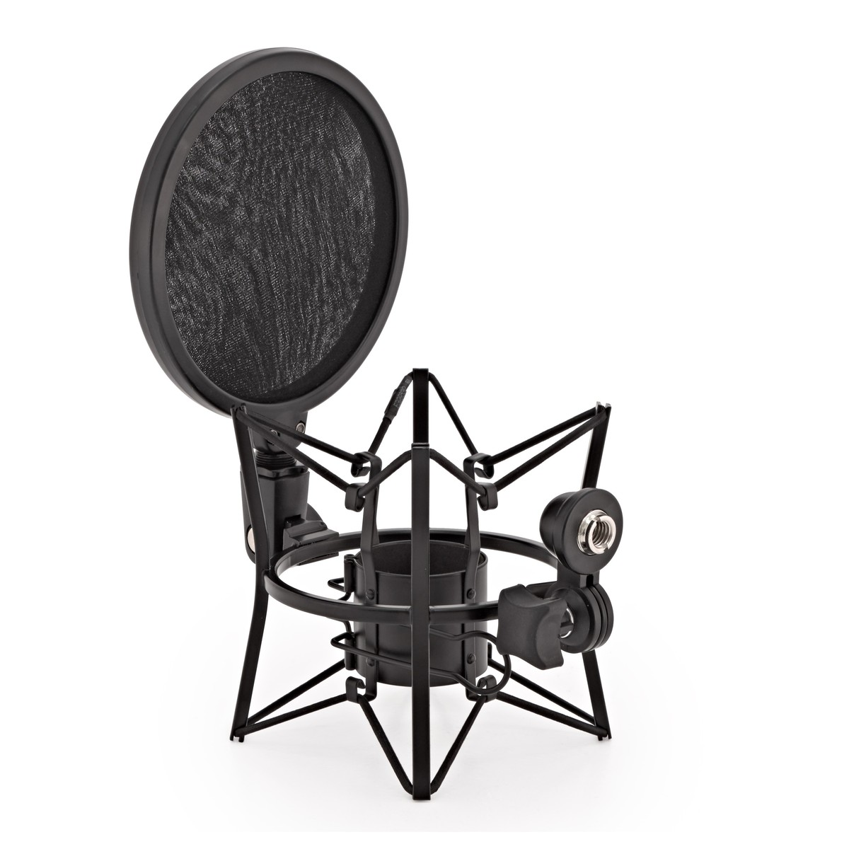 Click to view product details and reviews for Microphone Shock Mount With Pop Filter By Gear4music.