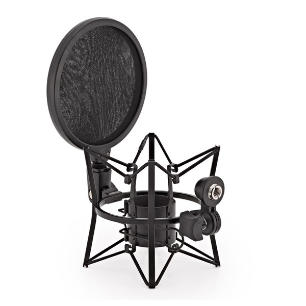 Microphone Shock Mount with Pop Filter by Gear4music