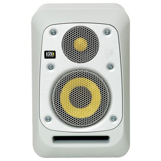 KRK V4S4 Studio Monitor White, Single - Front (With Optional Grille)