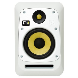 KRK V6S4 Studio Monitor White, Single - Front