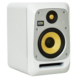 KRK V6S4 Active Studio Monitor, White Noise - Angled