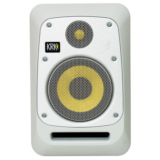 KRK V6S4 Studio Monitor White, Single - Front (With Optional Grille)