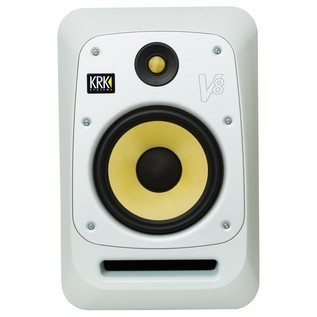 KRK V8S4 Studio Monitor White, Single - Front