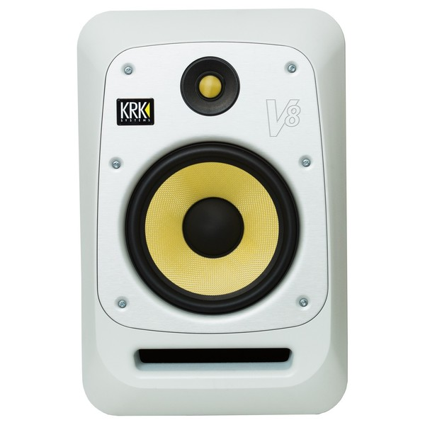 KRK V8S4 Studio Monitor White, Single - Front