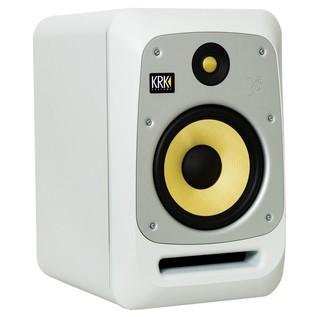 KRK V8S4 Active Studio Monitor, White Noise - Angled