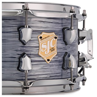 SJC Drums Providence 14'' x 14'' Floor Tom, Silver Ripple