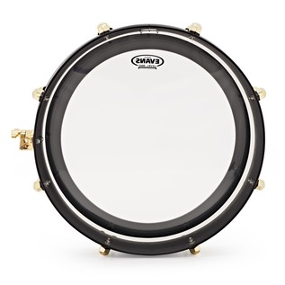 SJC Drums UFO Gong Drum, Black with Brass HW
