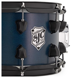 SJC Drums Tour 14'' x 7'' Snare Drum, Blue with Black HW