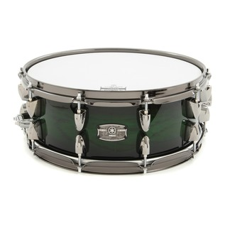 Yamaha Live Custom 14'' x 5.5'' Snare Drum, Emerald Shadow Sunburst