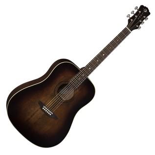 Luna Art Vintage Dread Solid Top Distressed Acoustic Guitar Front