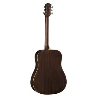 Luna Art Vintage Dread Solid Top Distressed Acoustic Guitar Back