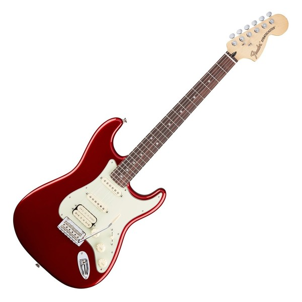Fender Deluxe Stratocaster HSS Electric Guitar, PF, Candy Apple Red