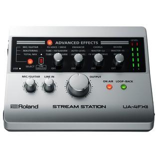 Roland UA-4FX2 Stream Station USB Audio Interface for Webcasting - Top