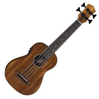 Luna Bari-Bass Ukulele, With Preamp, Koa Wood, Fretless Front