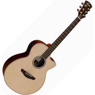 Faith Venus Concert Cutaway Electro Acoustic Guitar, Hi Gloss Natural