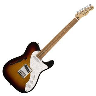 Fender Deluxe Telecaster Thinline, PF, 3-Tone Sunburst