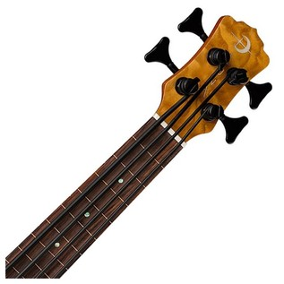 Luna Bari-Bass Ukulele, With Preamp, Quilt Top