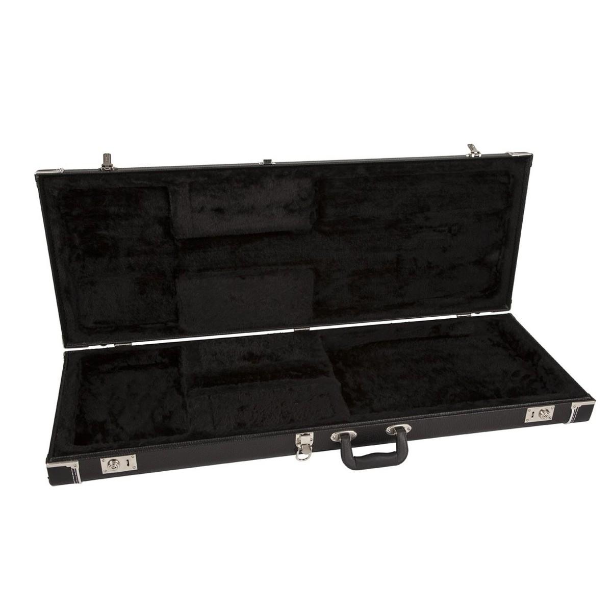 fender pro series stratocaster telecaster case black at gear4music. Black Bedroom Furniture Sets. Home Design Ideas