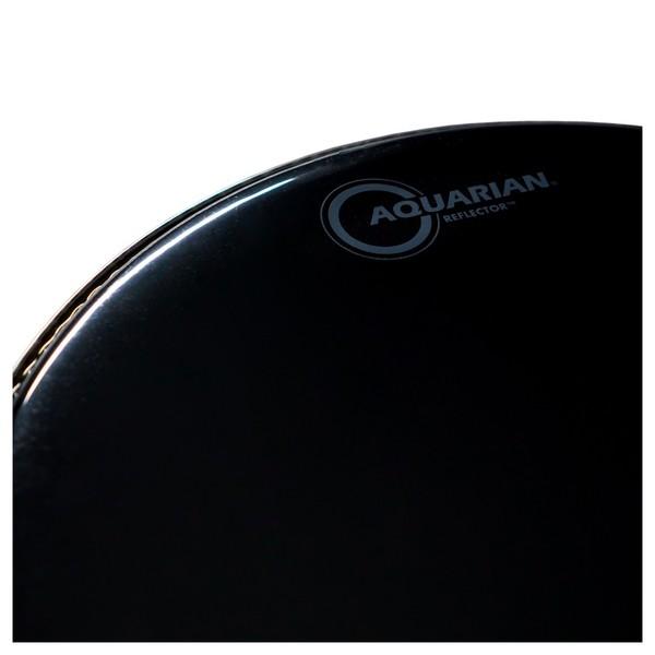 aquarian reflector 14 39 39 drum head black mirror finish at gear4music. Black Bedroom Furniture Sets. Home Design Ideas