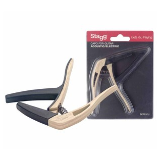 Stagg Curved Trigger Capo For Acoustic & Electric Guitar 1