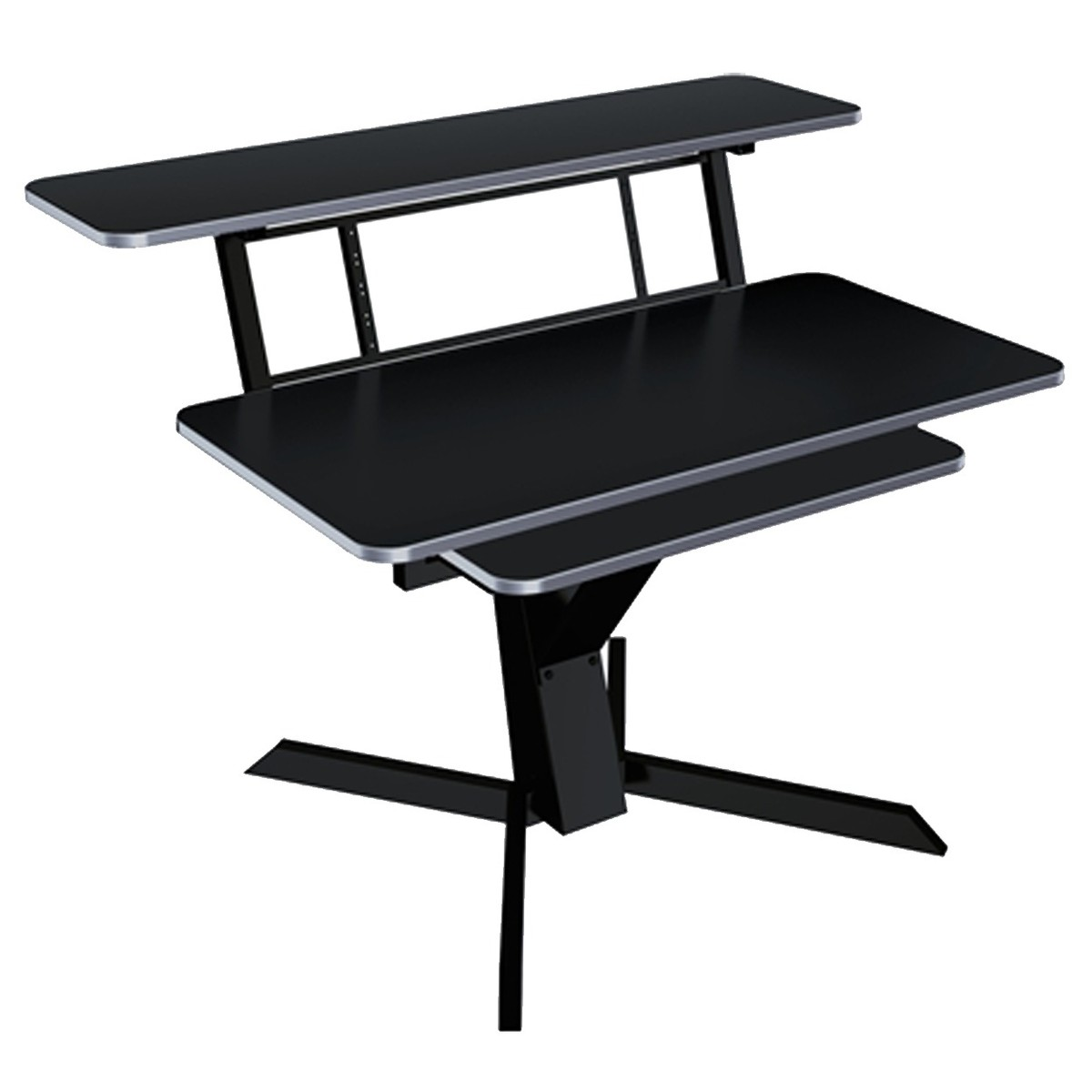 Click to view product details and reviews for Quiklok Triple Shelf Workstation Black.