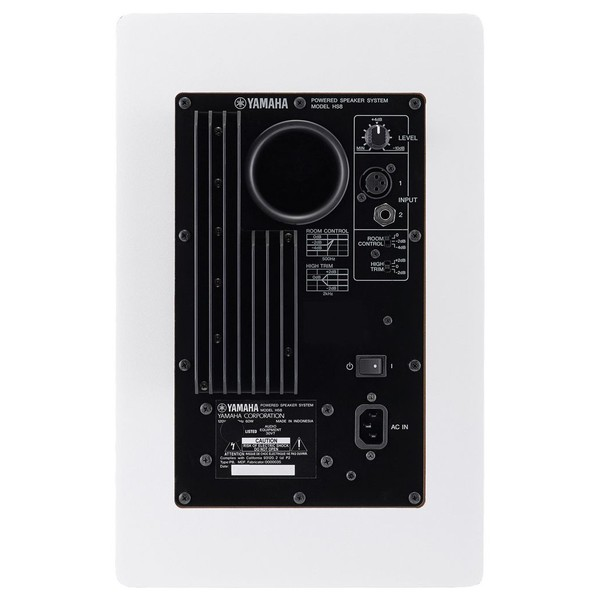 Yamaha HS5W Full-Range Studio Monitor, White - Rear