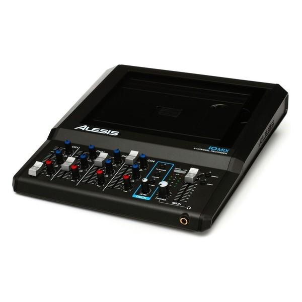 Alesis iO Mix 4-Channel Mixer/Recorder With SubZero Headphones - Mixer Angled