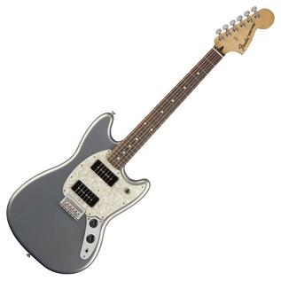 Fender Mustang 90 Electric Guitar, Pau Ferro, Silver