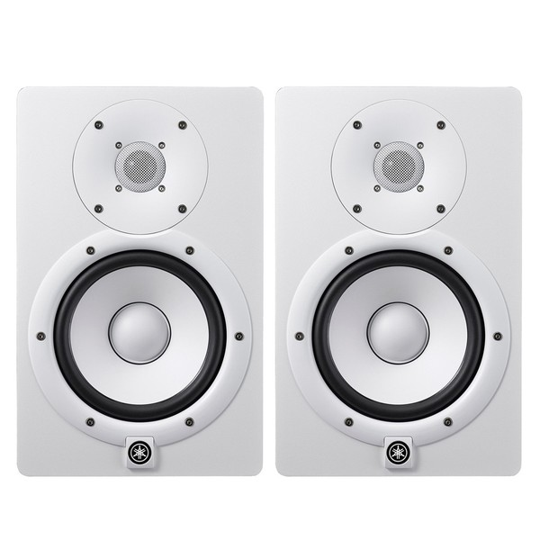 Yamaha HS7I Active Studio Monitors (Pair), White - Bundle