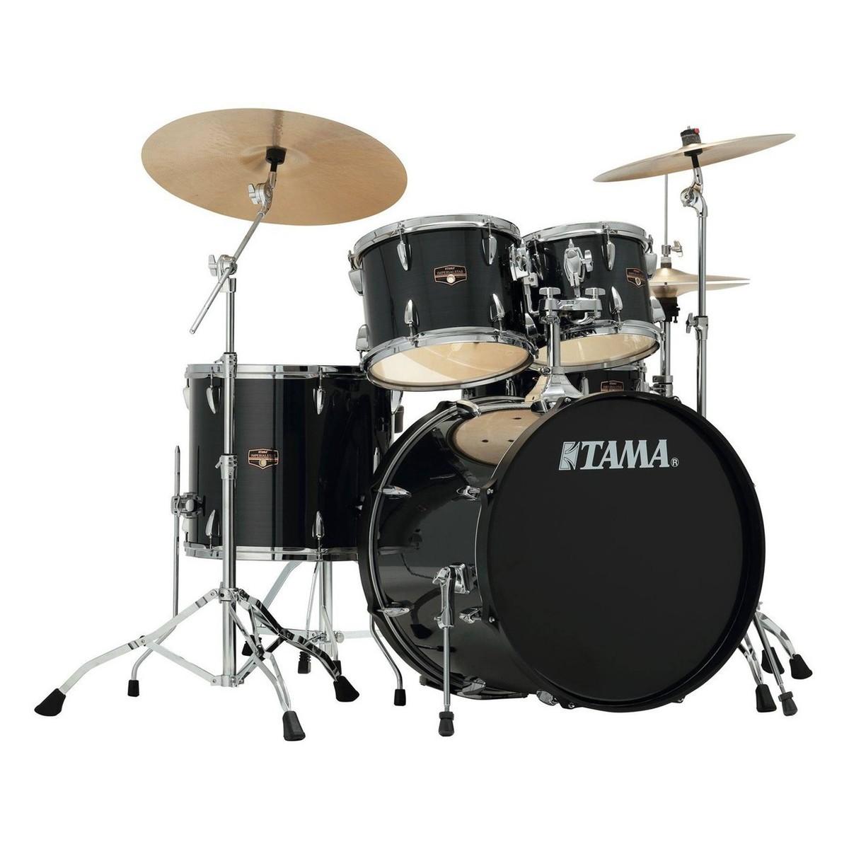 tama imperialstar 20 39 39 5pc drum kit hairline black at gear4music. Black Bedroom Furniture Sets. Home Design Ideas