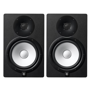 Yamaha HS8I Active Studio Monitor (Pair), Black - Bundle