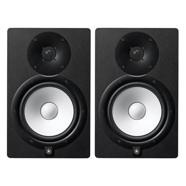Yamaha HS8I Active Studio Monitor (Pair), Black - Bundle