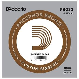 D'Addario Single Phosphor Bronze Wound 032