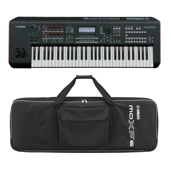 Yamaha MOXF6 Synthesizer Keyboard With Yamaha Soft Case - Bundle