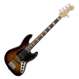 Fender American Elite Jazz Bass V, Ebony, 3-Tone Sunburst